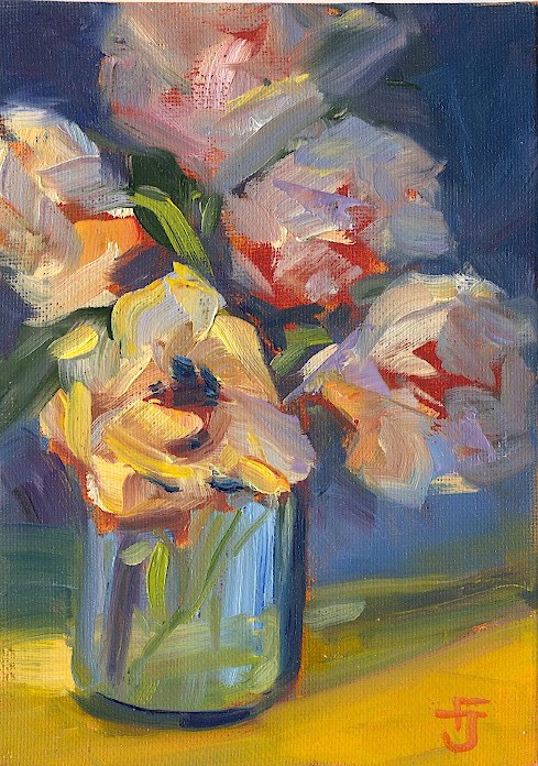 """Buttery Flowers II"" original fine art by Francine Dufour~Jones"