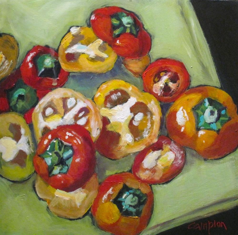 """""""492 Pepper Caps"""" original fine art by Diane Campion"""