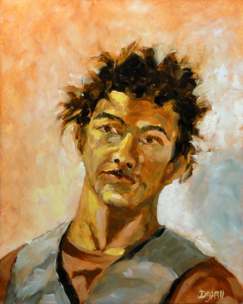 """Sergio"" original fine art by Dalan Wells"