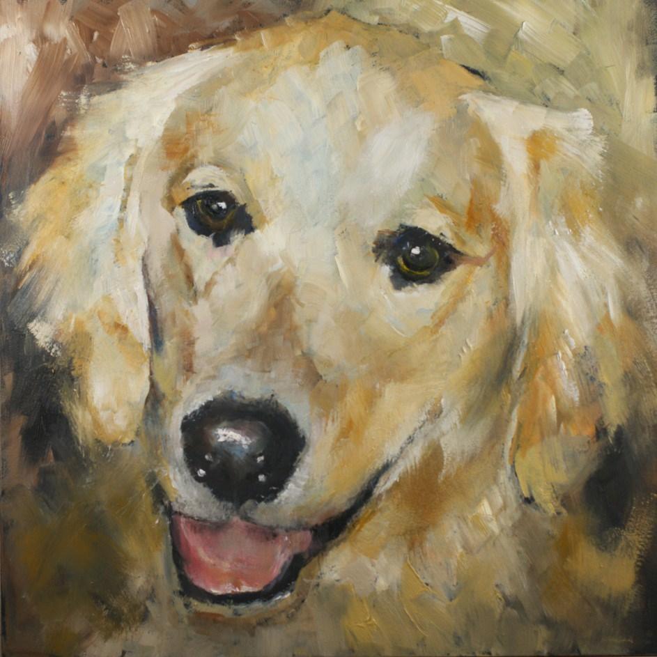 """Pet #16: Gentle Friend"" original fine art by Sue Churchgrant"