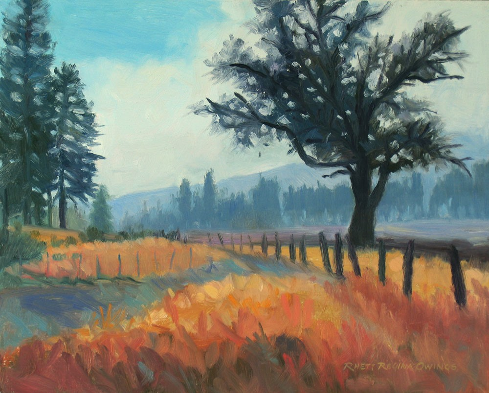 """Morning Fog"" original fine art by Rhett Regina Owings"