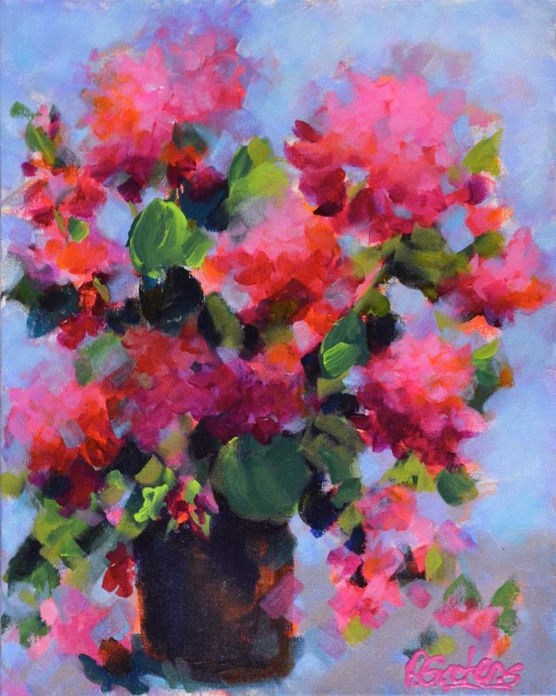 """""""Garden Geraniums"""" original fine art by Pamela Gatens"""