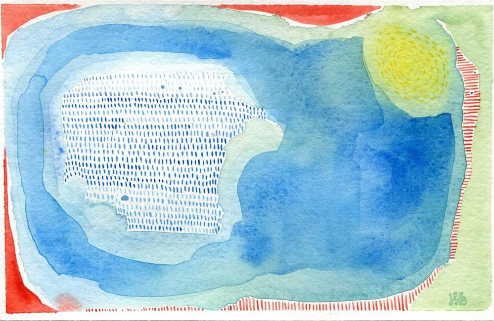 """Pool"" original fine art by Heather Bennett"
