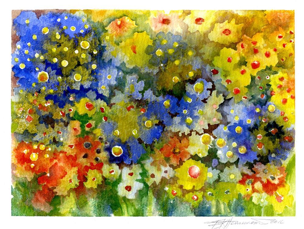 """Little Flower Profusion"" original fine art by Eileen Hennemann"