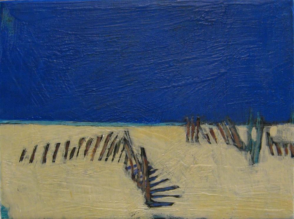 """Beach Fence Sky"" original fine art by Kristina Davidson"