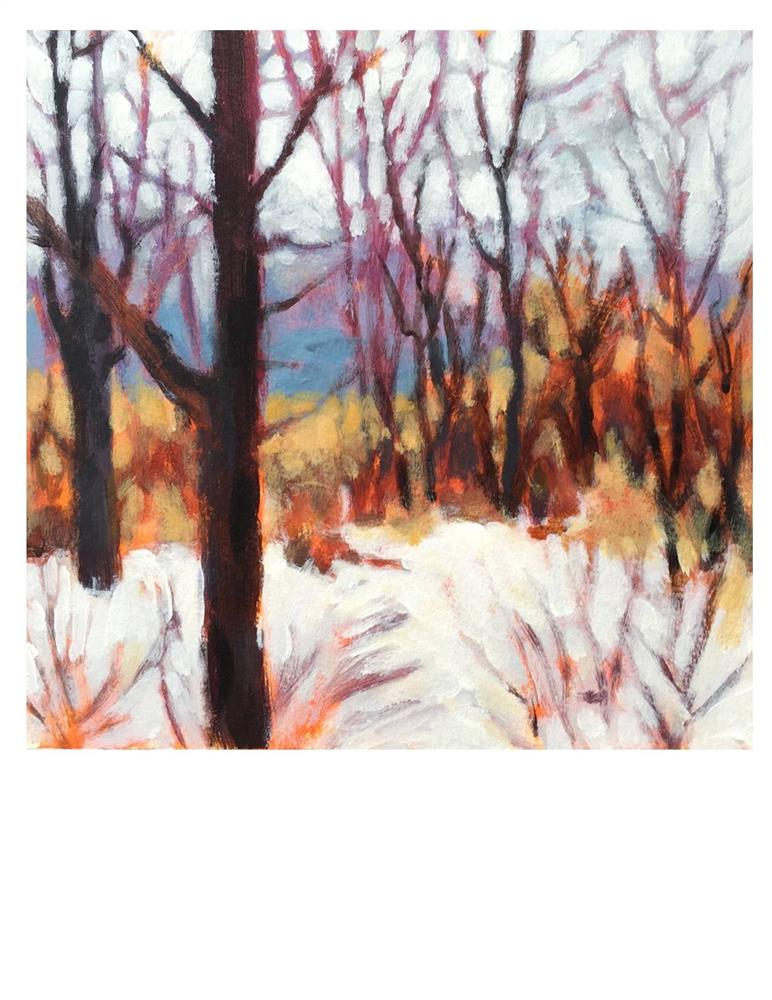 """""""April Snow Day"""" original fine art by Suzanne Woodward"""