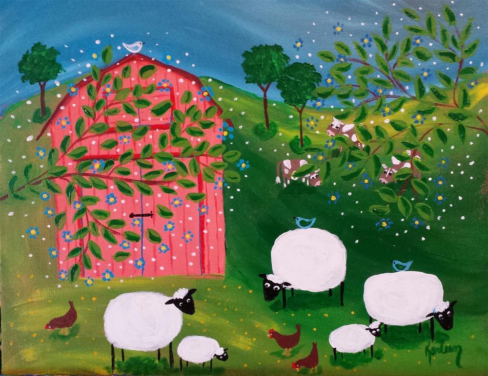 """Down on the Farm 2"" original fine art by Karleen Kareem"
