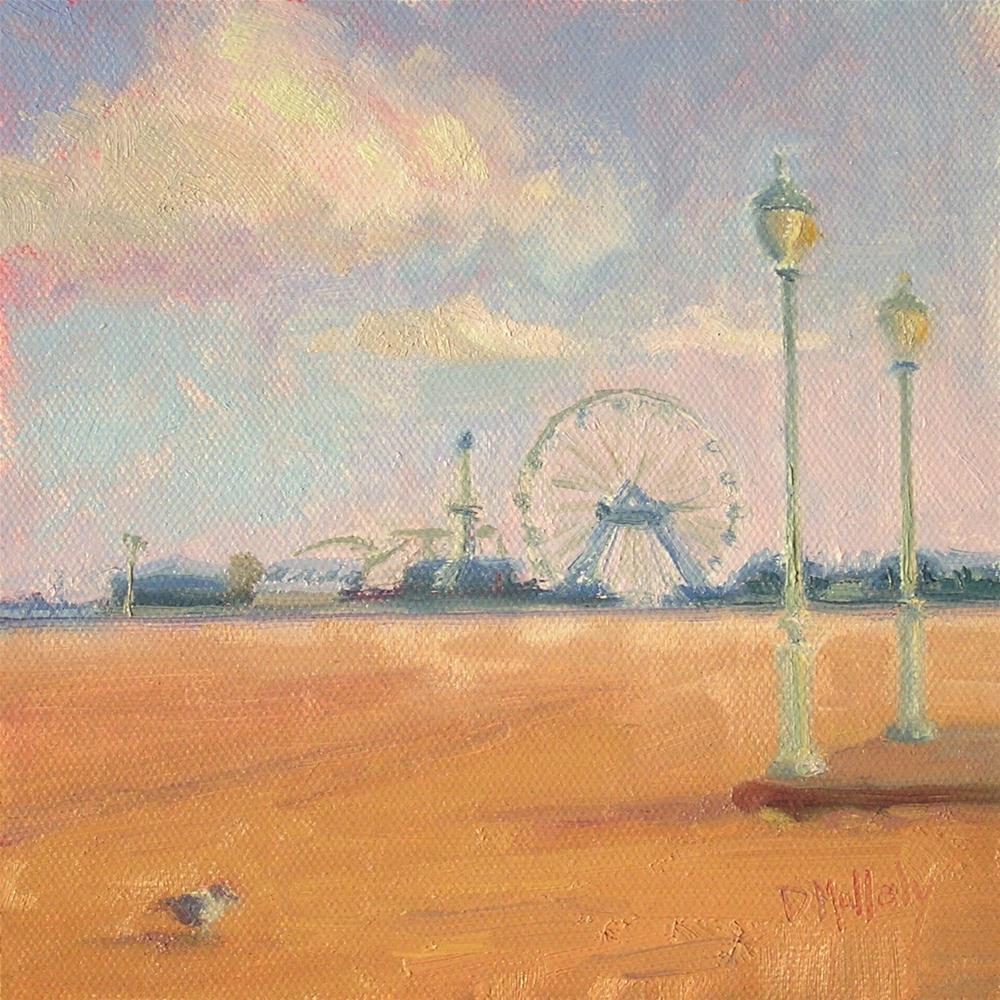 """Off Season, Ocean City, Maryland"" original fine art by Diane DuBois Mullaly"