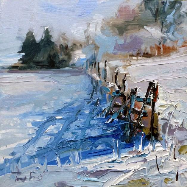 """""""Im Schnee"""" original fine art by Jurij Frey"""