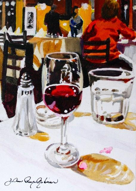"""Romantic Dinner"" original fine art by JoAnne Perez Robinson"
