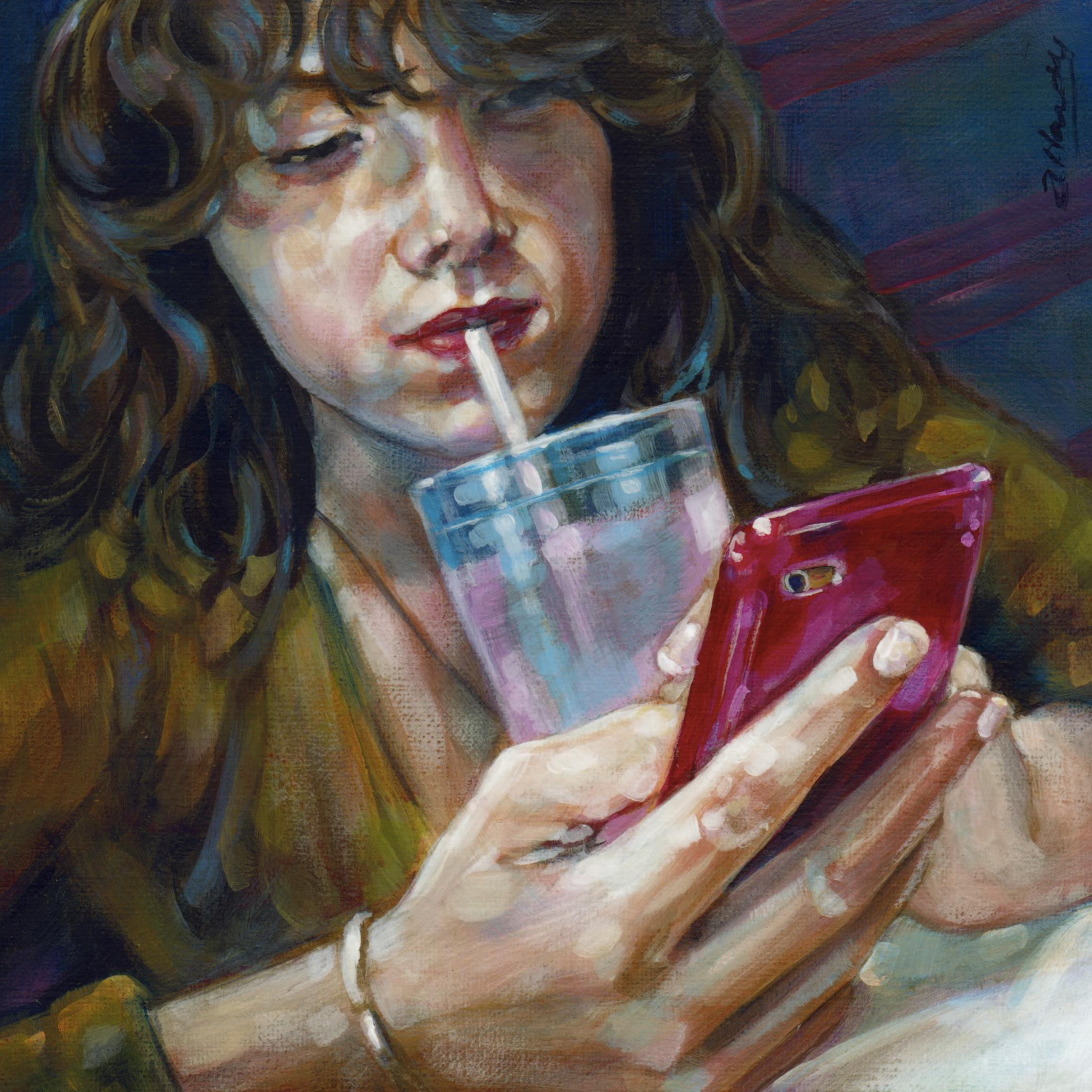 """At Arms Length#38, 2BZ4UQT"" original fine art by Angela Hardy"