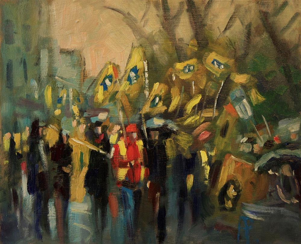 """""""Brighton Marchers"""" original fine art by Andre Pallat"""