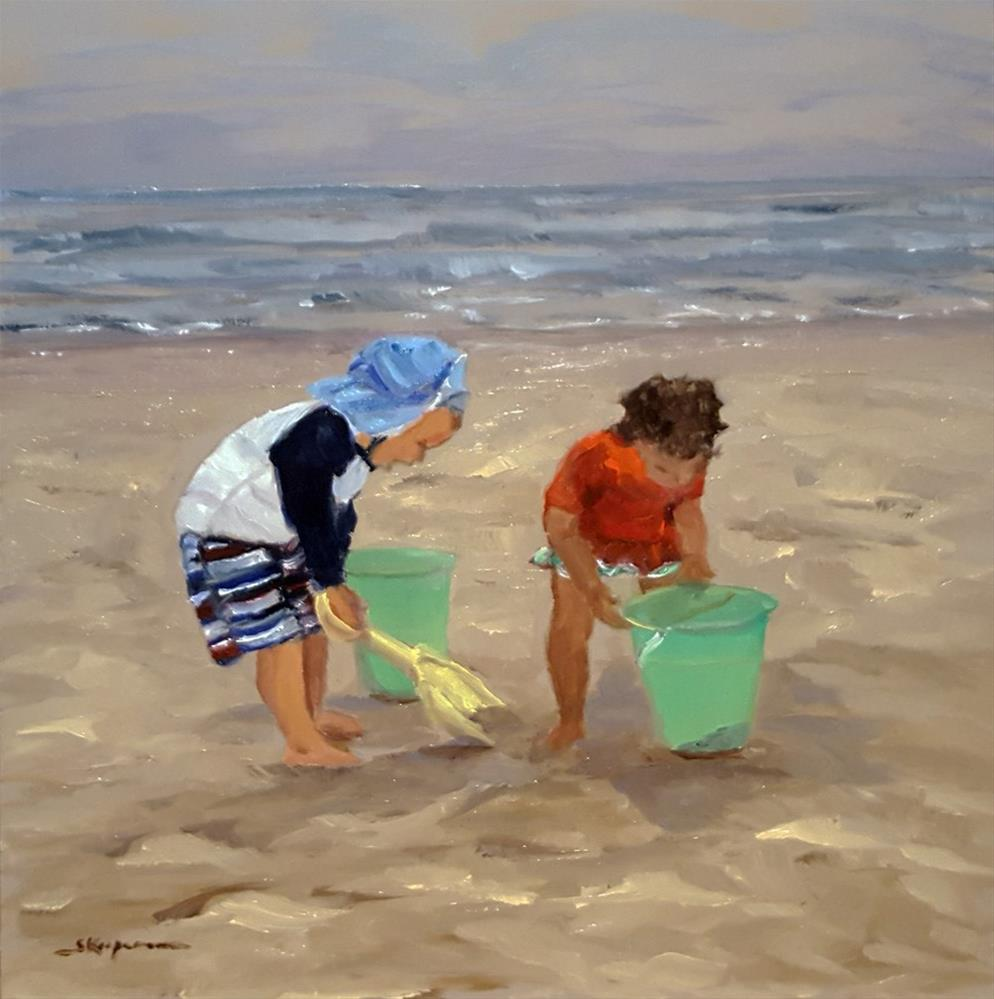 """""""Buckets of Fun"""" original fine art by Shelley Koopmann"""
