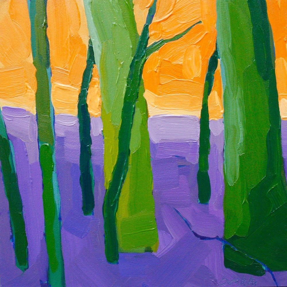 """""""trees without leaves I - variation 3"""" original fine art by Barb Saletri"""