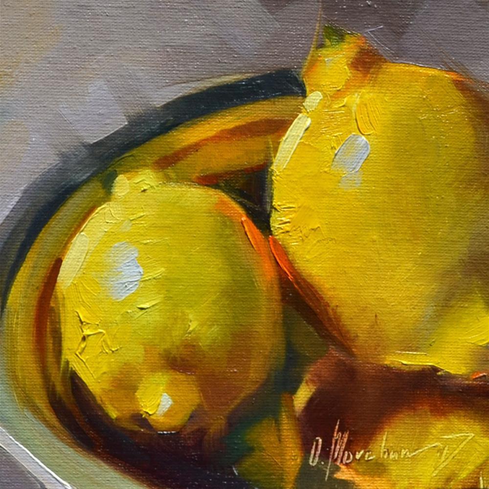 """Yellow Light"" original fine art by Oleksii Movchun"