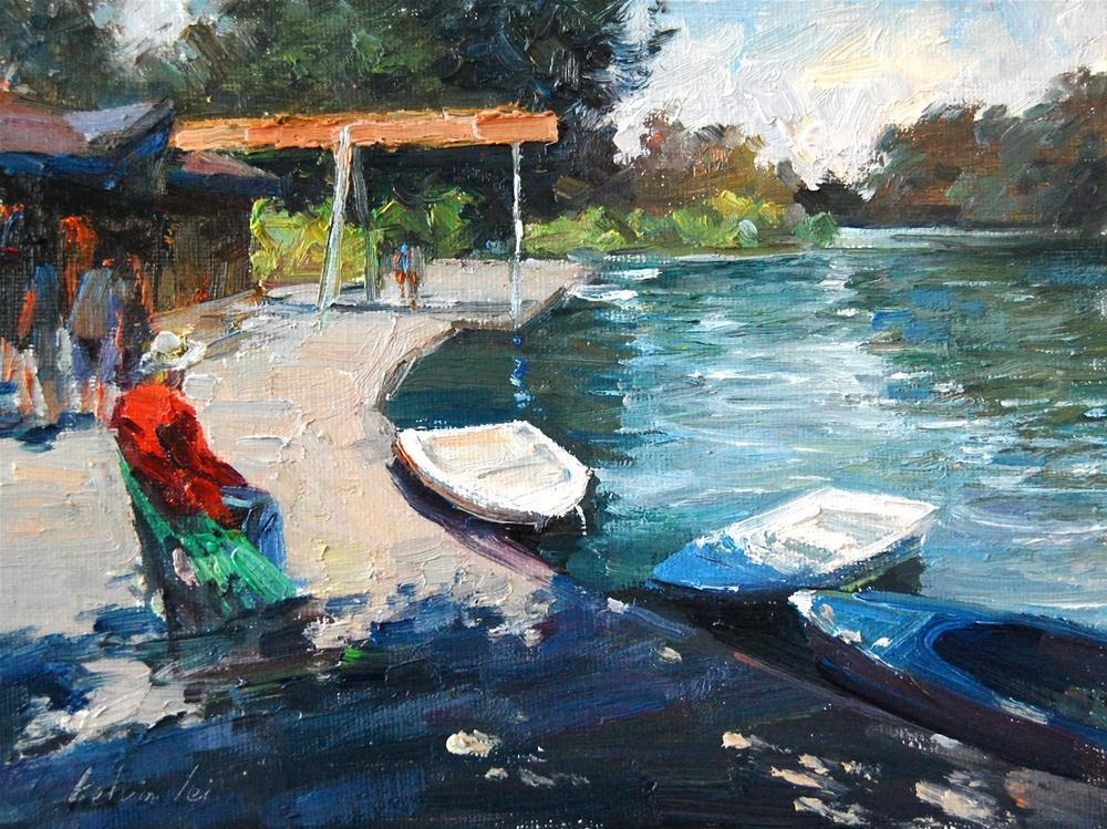 """""""Stow Lake"""" original fine art by Kelvin Lei"""