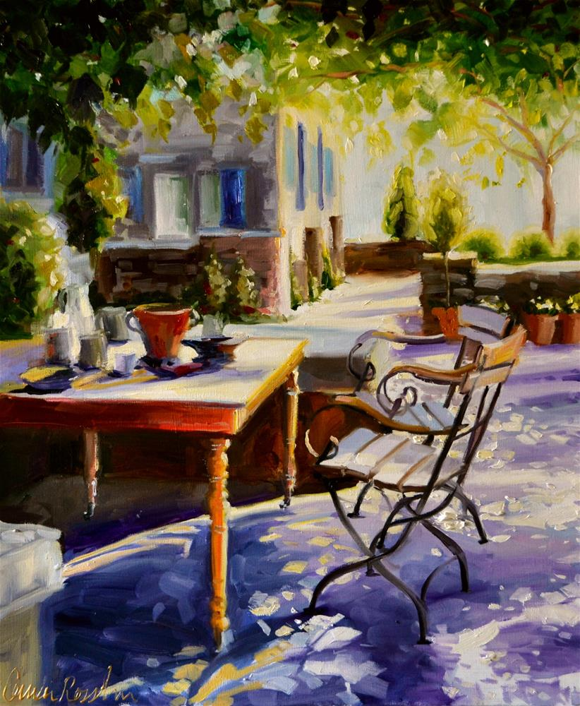 """PROVENCE TABLE"" original fine art by Cecilia Rosslee"