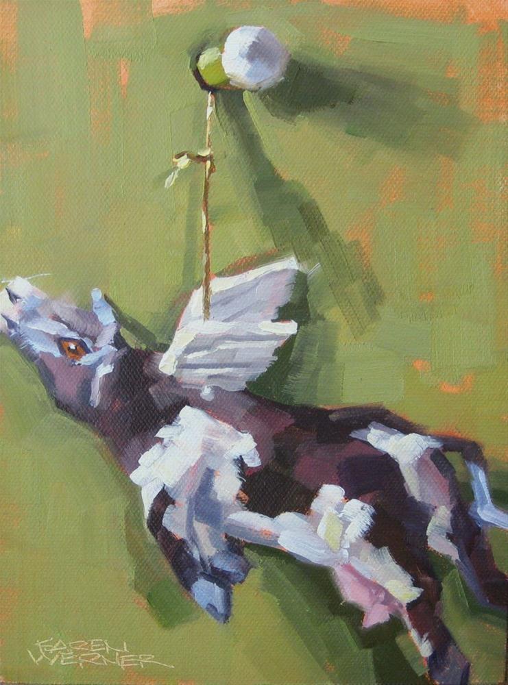 """""""Holy Cow!"""" original fine art by Karen Werner"""