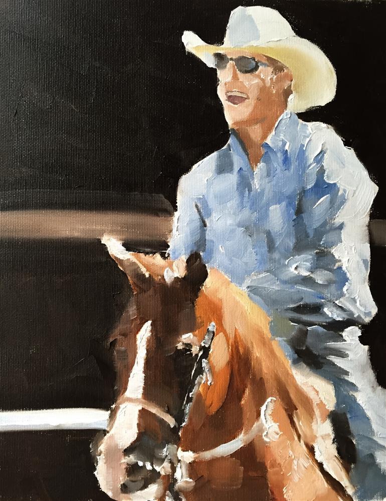 """""""Cow Boy"""" original fine art by James Coates"""