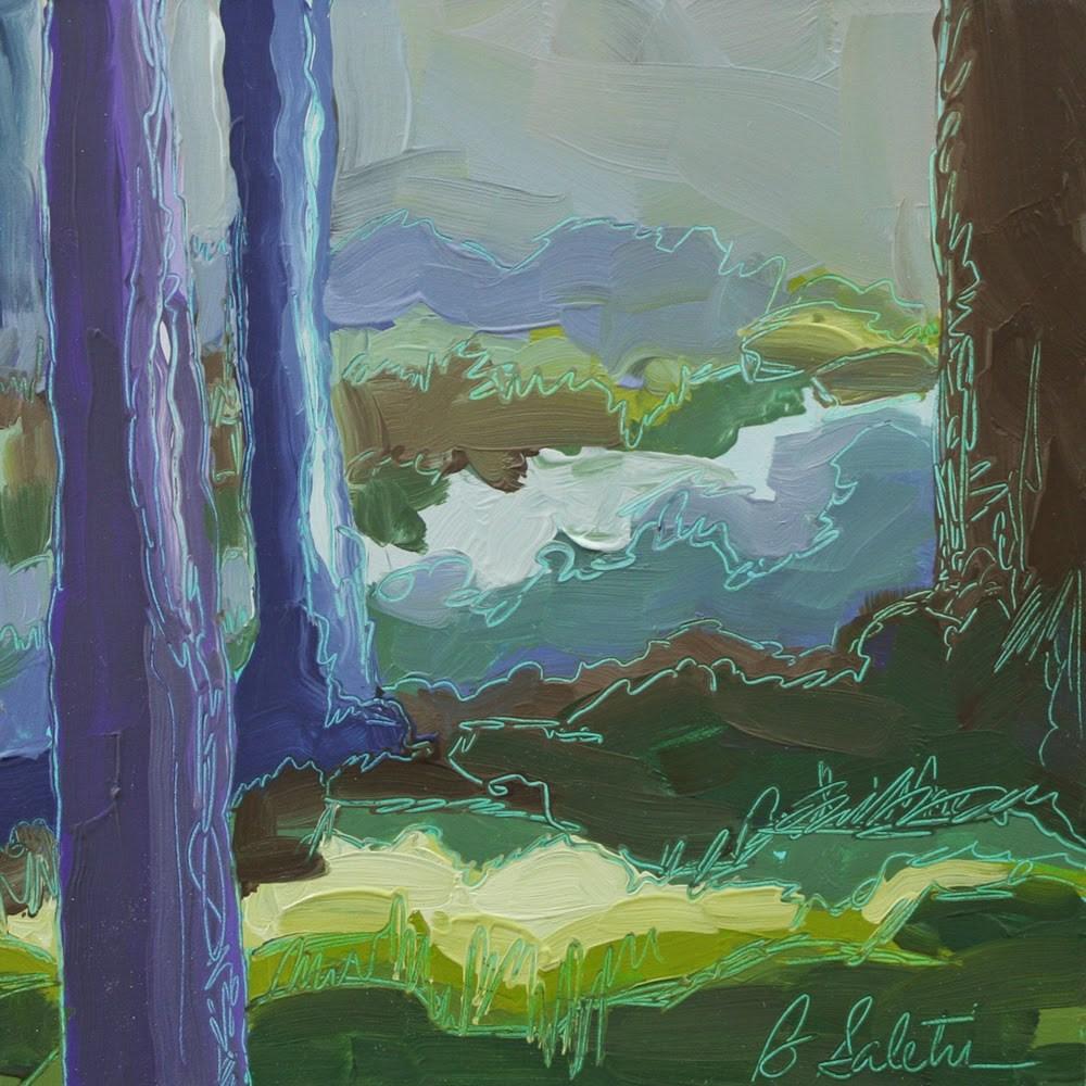 """Cool Grasses"" original fine art by Barb Saletri"
