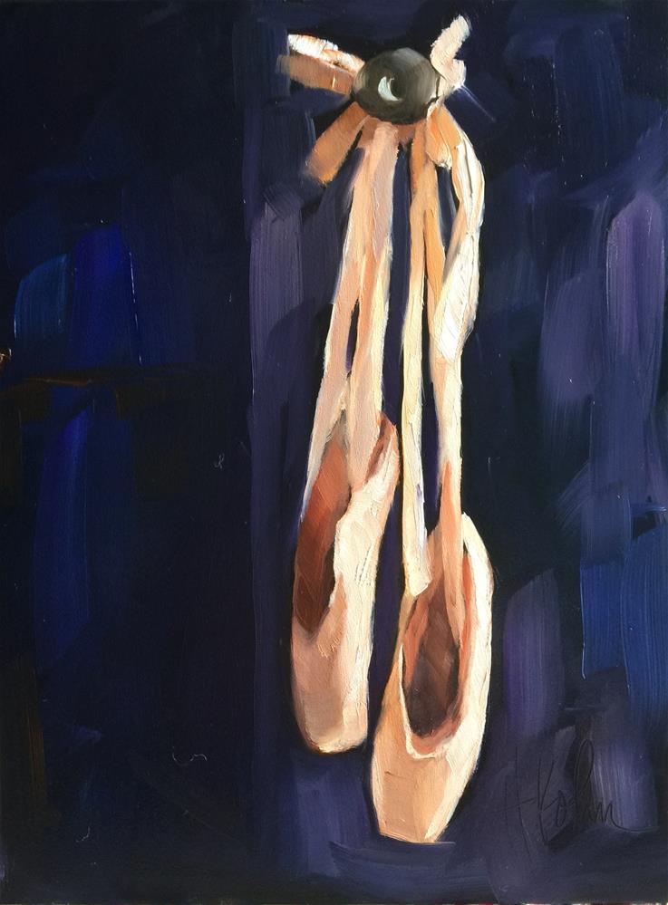 """""""Ballet Slippers"""" original fine art by Hallie Kohn"""
