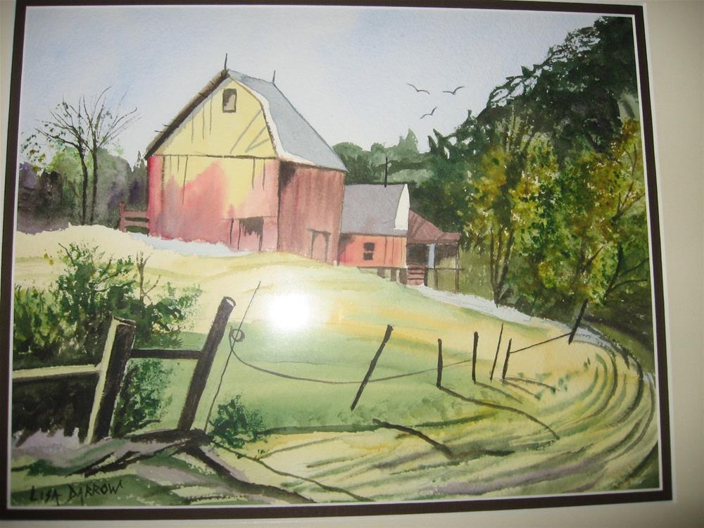 """COUNTRY ROAD"" original fine art by Lisa Darrow"