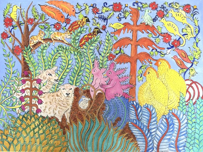 """""""Long Awaited"""" original fine art by Susan Medyn"""