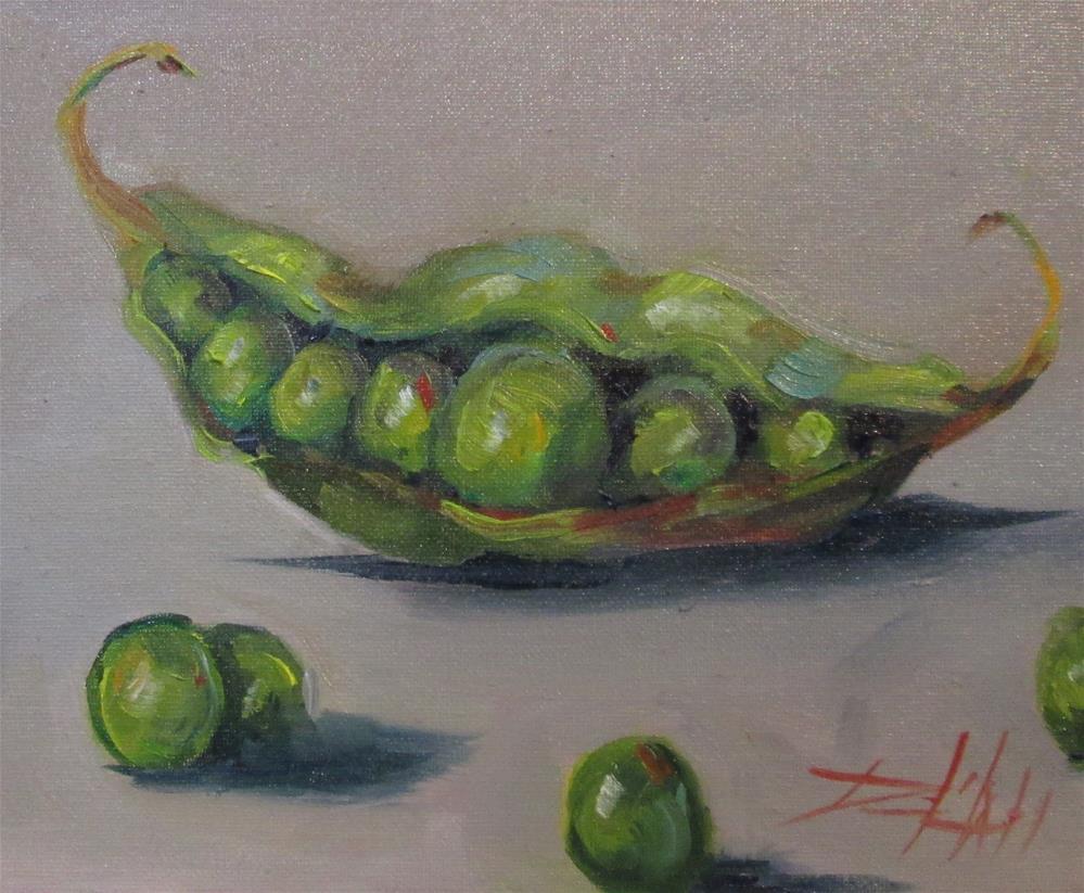 """""""Peas in a Pod"""" original fine art by Delilah Smith"""