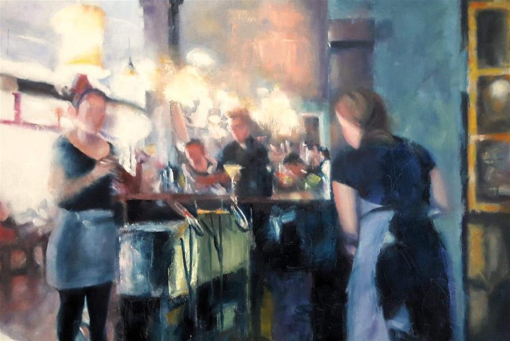"""Happy Hour"" original fine art by Margaret Bayalis"