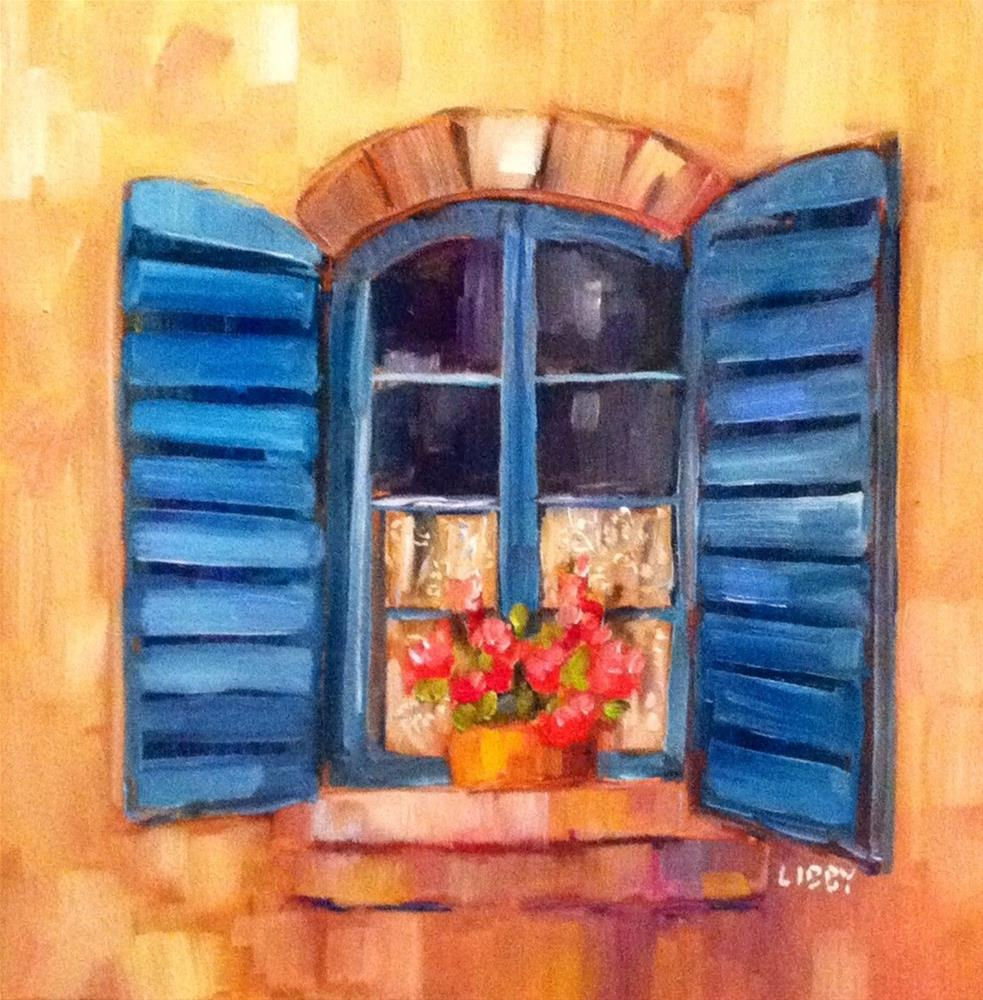 """""""Lace Curtain"""" original fine art by Libby Anderson"""
