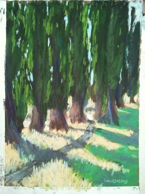 """""""The Path to Blanche's"""" original fine art by Mary Davies Kerns"""