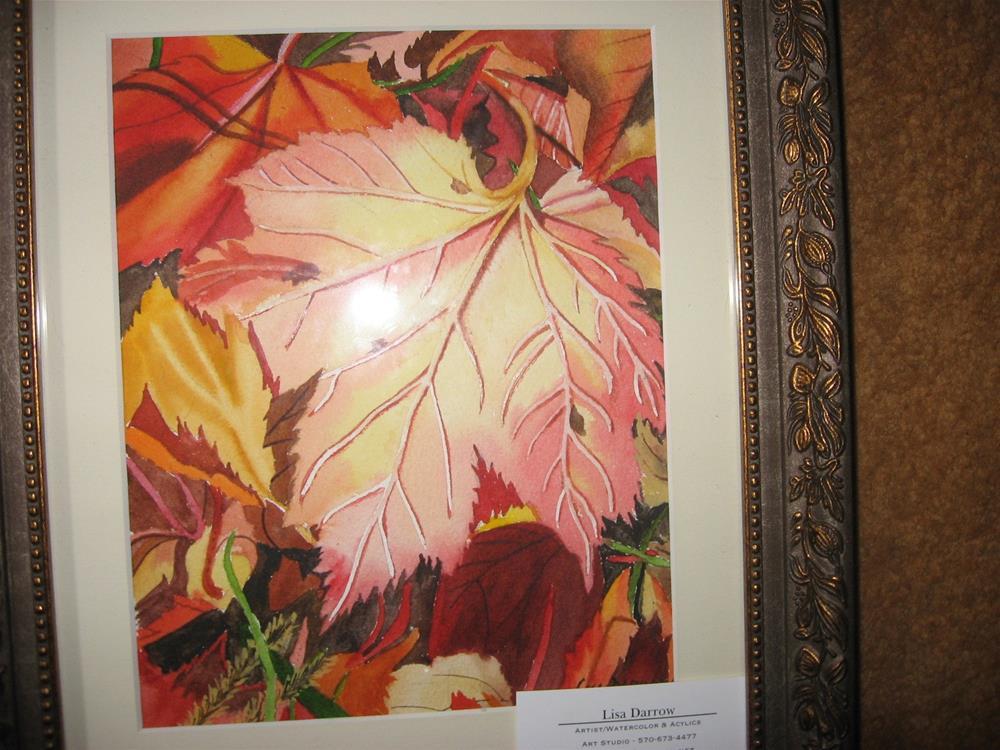 """""""MAPLE LEAF RAG"""" original fine art by Lisa Darrow"""