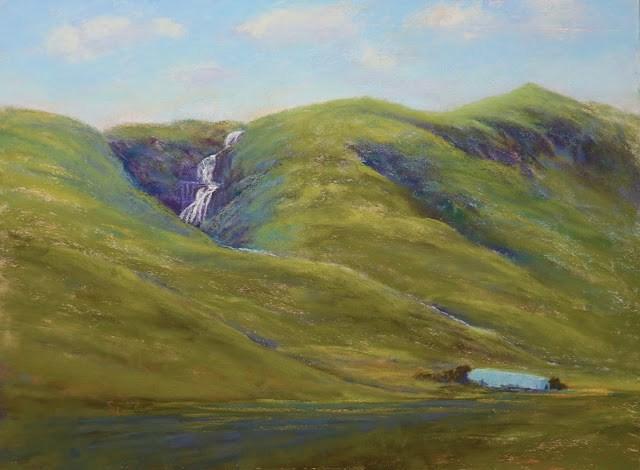 """The Isle in Summer"" original fine art by Sharon Lewis"