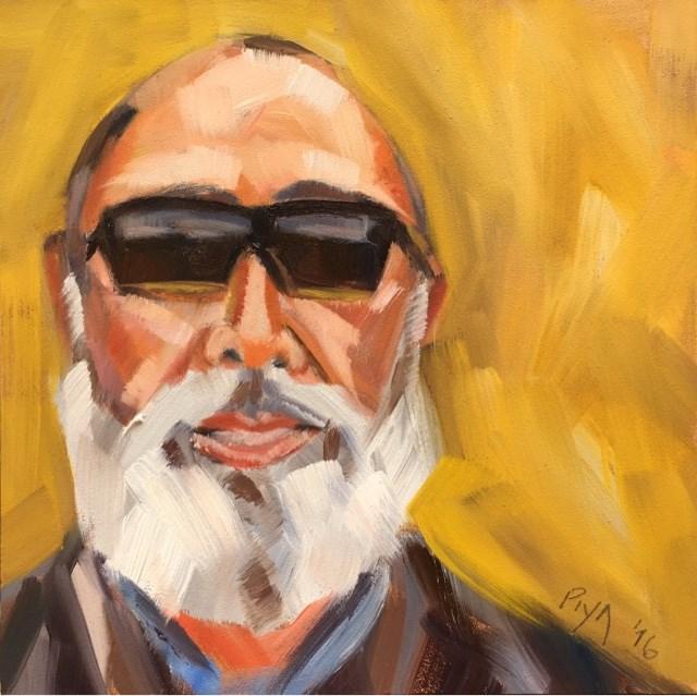 """""""Age 58 - ARNOLD"""" original fine art by Piya Samant"""