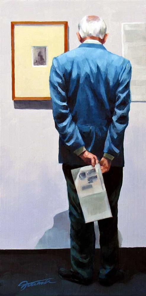 """""""Detail-Oriented-Painting People in Art Gallery Series"""" original fine art by Joanna Bingham"""