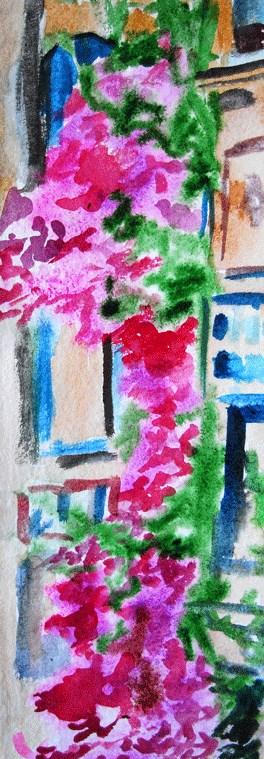 """Painted Ladies"" original fine art by Donna Crosby"