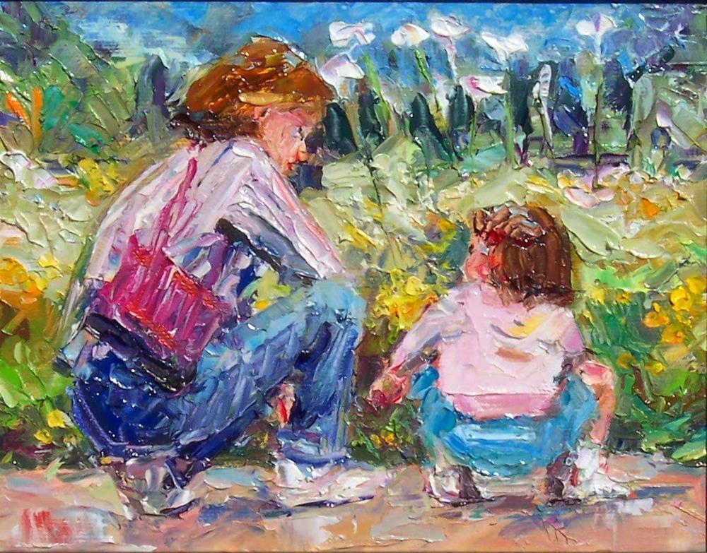 """Longwood Garderns,figure,oil on canvas,8x10,priceNFS"" original fine art by Joy Olney"