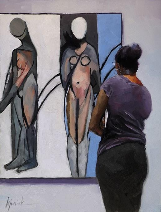 """""""Figured Out"""" original fine art by Karin Jurick"""