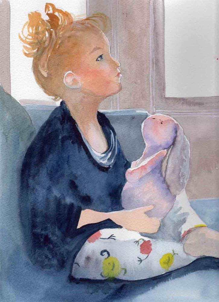 """""""Day Dreaming"""" original fine art by Bunny Griffeth"""