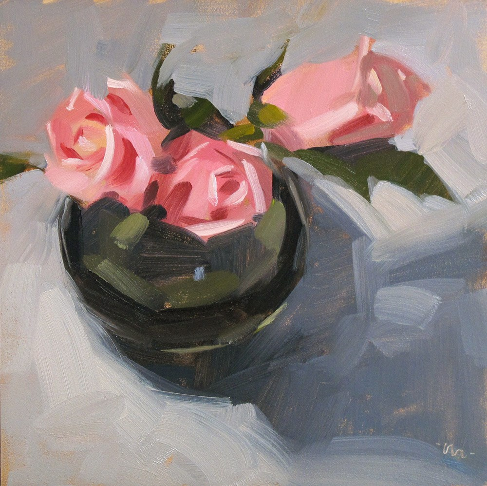 """The Right Rose Knows"" original fine art by Carol Marine"