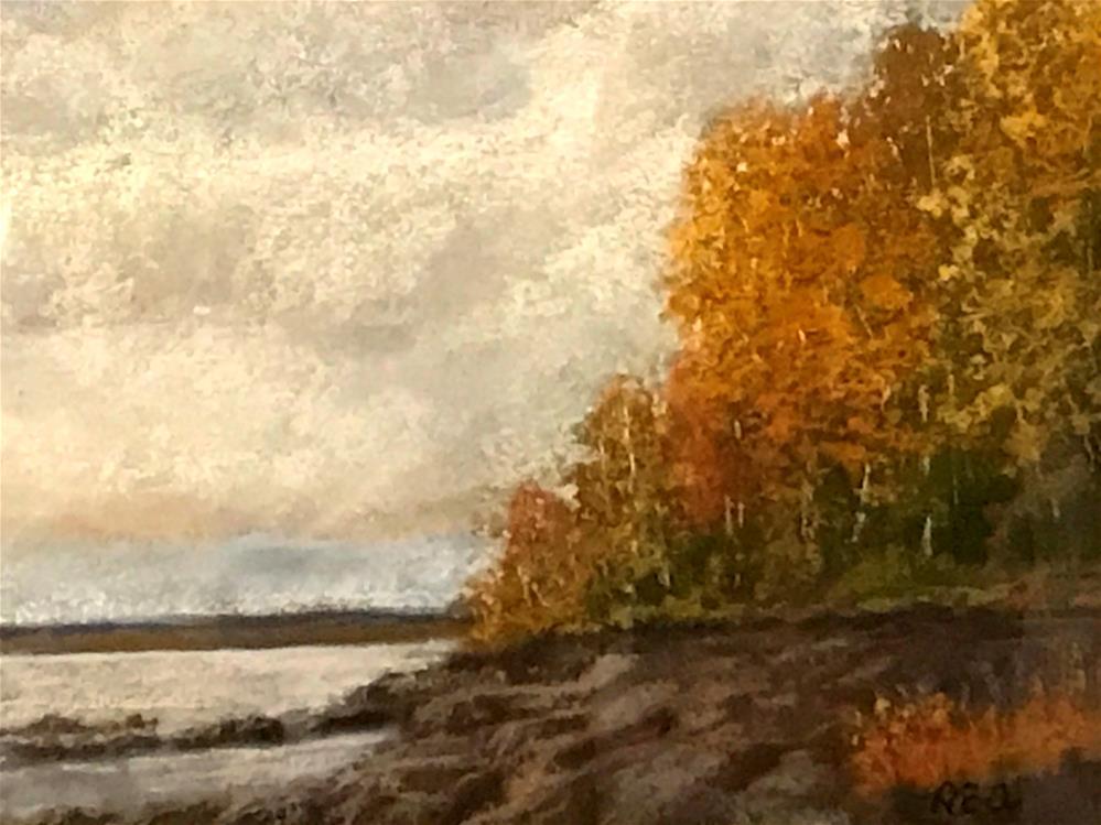 """Acadia in the fall"" original fine art by Betty Argiros"