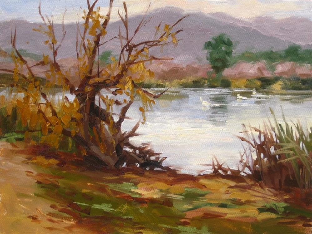 """""""Cold Pond"""" original fine art by Karen Werner"""