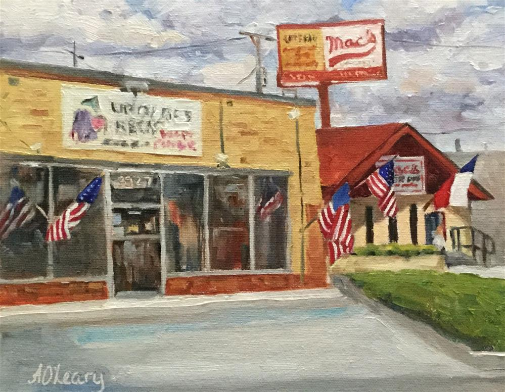 """Main Street Dallas"" original fine art by Alice O'Leary"