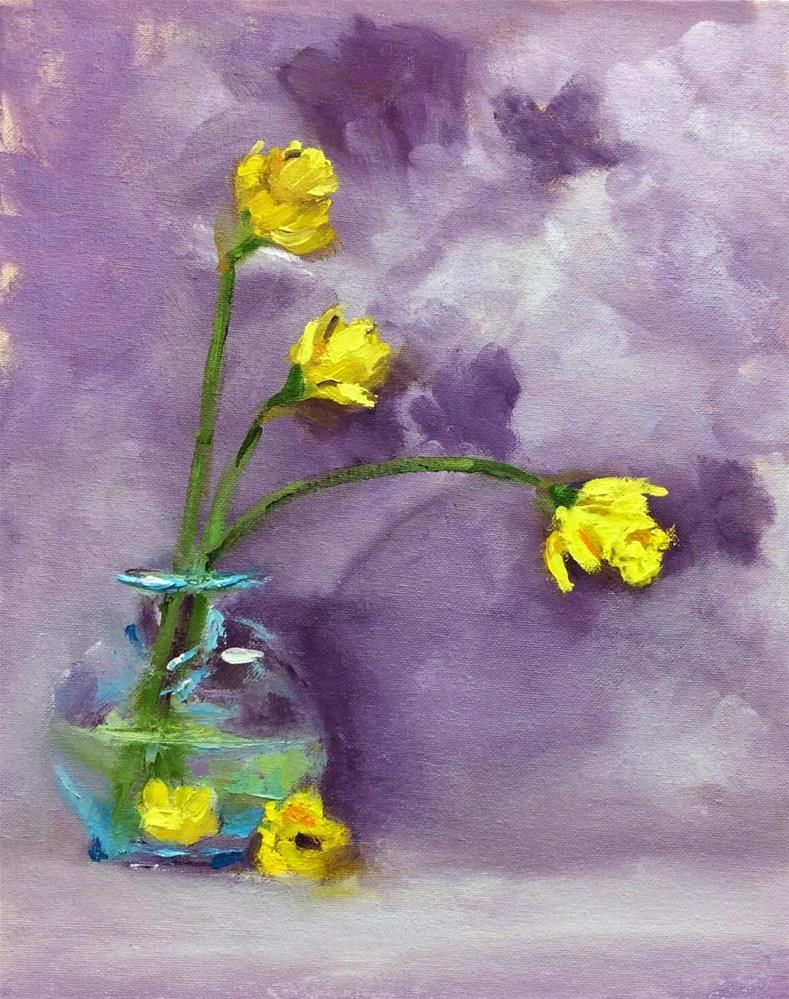 """Daffy Daffodils"" original fine art by Peggy Schumm"