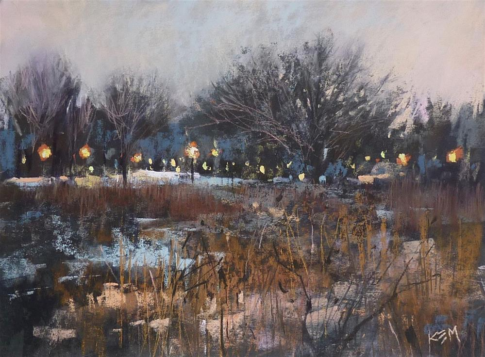 """""""New YouTube Video Release! How to Paint a Moody Winter Landscape"""" original fine art by Karen Margulis"""
