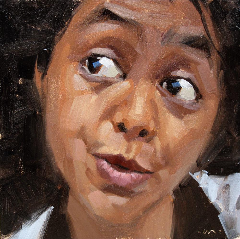 """Faith Surprised"" original fine art by Carol Marine"