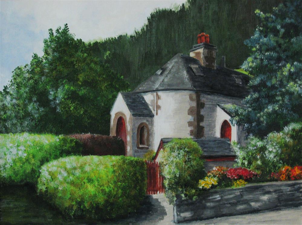 """Undercliff Guest House"" original fine art by Nan Johnson"