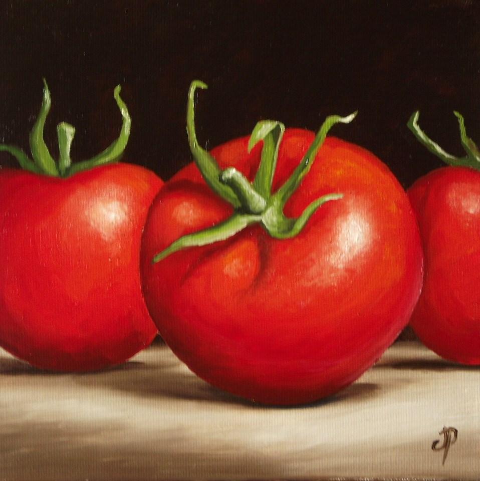 """Tomatoes"" original fine art by Jane Palmer"