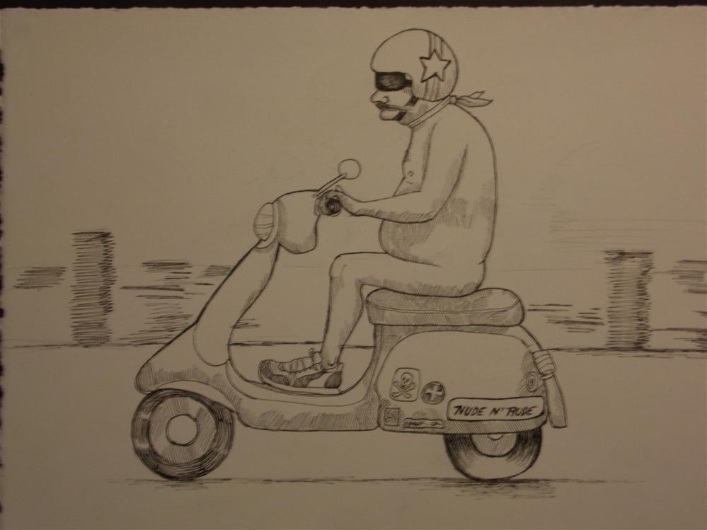 """""""An American Man, Nude, No. 119"""" original fine art by wanda sigafus"""