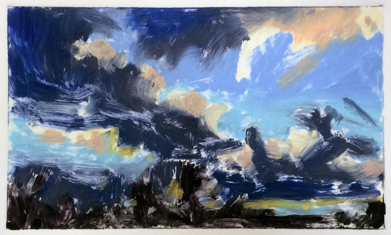 """""""Winter Clouds"""" original fine art by Mary Gilkerson"""